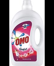 Гель для стирки Omo клубника и поцелуй лилии для цветного белья 1л