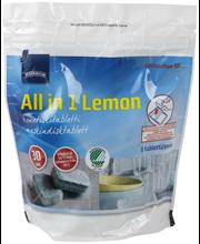 Таблетки для посудомоечной машины Rainbow Lemon All in 1, 30 шт