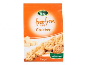 Крекеры сырные без глютена, Crusti Croc Free From Cracker, 200 гр