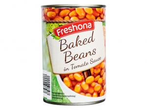 Белая фасоль в томатном соусе Freshona 425гр