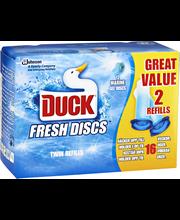 Сменный блок Duck морской бриз 2x6шт