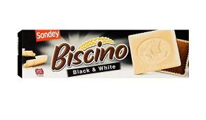 Печенье шоколадное в белом шоколаде Sondey Biscino black & white 125гр