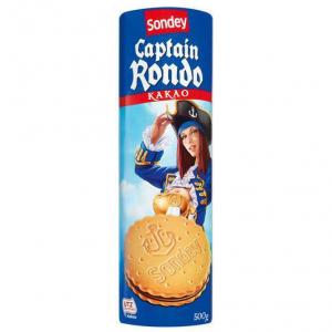 Печенье Sondey Captain Rondo Cocoa, какао 500гр
