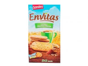 Печенье с шоколадно-ореховой прослойкой Sondey Envitas 253гр