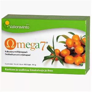 Облепиховым маслом для оздоровления слизистых оболочек и кожи Valioravinto Omega7 150шт.