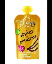 Органическое фруктовое пюре яблоко-банан Ella's Kitchen с 4мес. 120гр