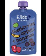 Органическое пюре банан-черника-яблоко Ella's Kitchen с 4мес. 120гр