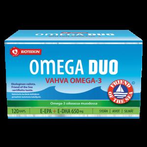 Омега-3 с витамином Е для сердца и мозга Bioteekin Omega Duo Vahva 120кап.