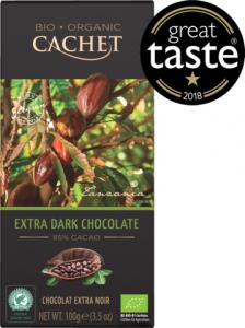 Органический темный шоколад Extra Dark, 85% cacao Cachet Bio Organic 100гр