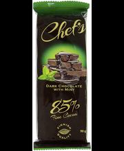 Темный шоколад 85% cacao с мятой, Chef's Dark choco 90гр