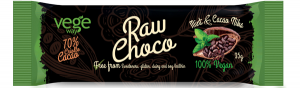 Сырой веганский шоколад  70% сасао мята-какао бобы Vegeway 35гр