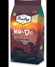 Кофе в зернах темной обжарки (крепость 4) органический Paulig Mundo 450гр