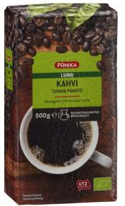 Органический молотый кофе, темной обжарки Pirkka Luomu Tumma 500гр
