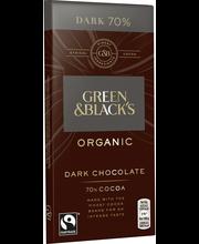 Органический темный шоколад Green & Black's 70% 90гр