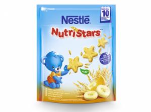 Детское печенье с бананом и апельсином без сахара с 10 мес. Nestlé NutriStars 50гр