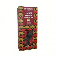 Экологический черный чай без добавок Forsman Luomu Keemun maustamaton musta tee 15пак.