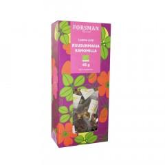 Экологический чай шиповник-ромашка Forsman Luomu Ruusunmarja-Kamomilla yrttitee 15пак.
