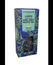 Экологический черный чай Эл Грей Forsman Luomu  Earl Grey 15пак.