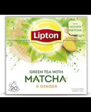 Зеленый чай Lipton Матча с имбирем Matcha Ginger Vihreä tee 20пак.