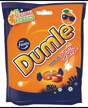 Конфеты с карамелью и апельсином Fazer Dumle Sunny Orange 220гр
