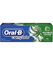 Зубная паста с мятой отбеливающая Oral-B Complete Mouthwash & Whitening 75мл