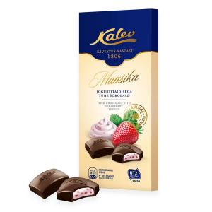 Тёмный шоколад с клубнично-йогуртовой начинкой Kalev 100гр