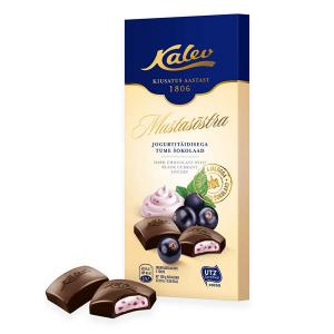 Тёмный шоколад с йогуртом и черной смородиной Kalev 100гр