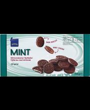 Шоколадное печенье с мятной начинкой Rainbow Tumma täytekeksi minttu 350гр