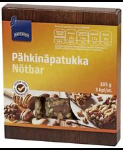 Батончики ореховые Rainbow pähkinä patukka 3шт., 105гр