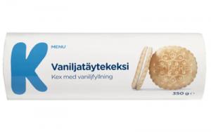 Печенье K-MENU с ванильно-сливочной начинкой 350гр