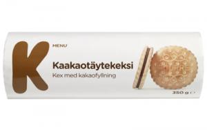 Печенье K-MENU с шоколадно-сливочной начинкой 350гр