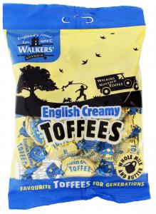 Мягкие сливочные ириски с английскими сливками Walkers nonsuch eng creamy 150гр