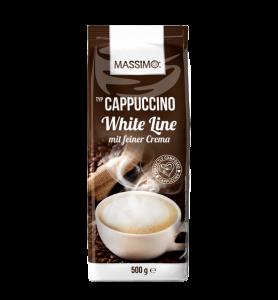 Кофейный напиток Massimo Cappucino White Line со сливками 500гр