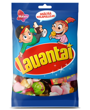 Ассорти из жевательных конфет и леденцов Malaco Lauantai 150гр