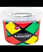 Ассорти лакричных и фруктовых жевательных конфет Malaco Aakkoset Sirkus 600гр