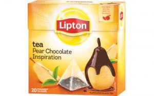 """Чай черный """"Груша в шоколаде"""" Lipton Pyramid päärynä suklaa tee 20пак."""