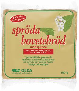 Хлебцы гречишные с киноа без глютена Oldana tattari-quinoanäkkileipä 100гр