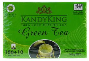 Чай зеленый, пакетированный KandyKing Green Tea 110шт.