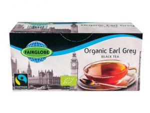 Чай чёрный, органический с бергамотом Fairglobe Organic earl grey 25пак.