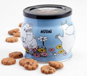 Печенье шоколадное с кусочками шоколада Moomin (банка с крышкой) 200гр