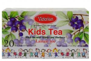Чёрный чай Victorian Kids Tea c черникой и лакрицей для детей 20пак.