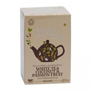 Чай органический, белый кокос-маракуйя English Tea Shop 20пак.