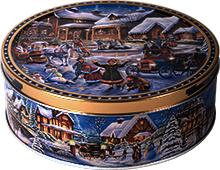 Печенье Новогоднее, ассорти Jacobsens Bakery Winter Village 400гр