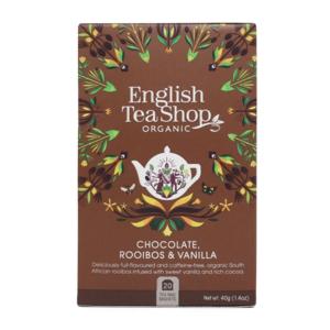 Чай органический English Tea Shop - шоколад, ройбуш и ваниль 20пак.