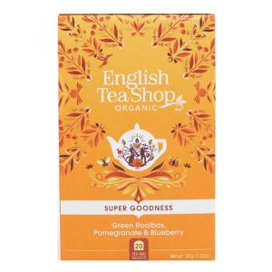 Чай органический English Tea Shop зеленый ройбуш, гранат и черника 20пак.