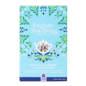 Чай органический белый English Tea Shop черника и бузина 20пак.