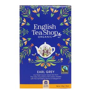 Чай органический Эрл Грей English Tea Shop 20пак.
