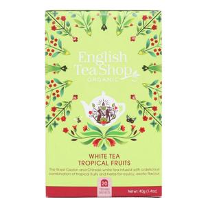 Чай органический белый English Tea Shop тропические фрукты 20пак.
