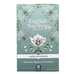 Чай органический белый English Tea Shop Матча и Корица 20пак.