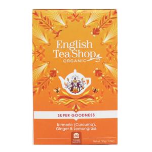 Чай органический  English Tea Shop Куркума, Имбирь и Лемонграсс 20пак.